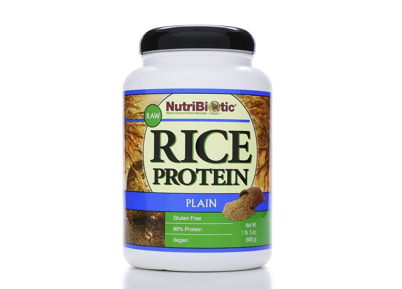 NutriBiotic Raw Vegan Plain Rice Protein Dietary Supplement - 600g