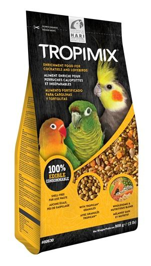 Tropimix Premium Food Formula for Cockatiels and Lovebirds - 2lb