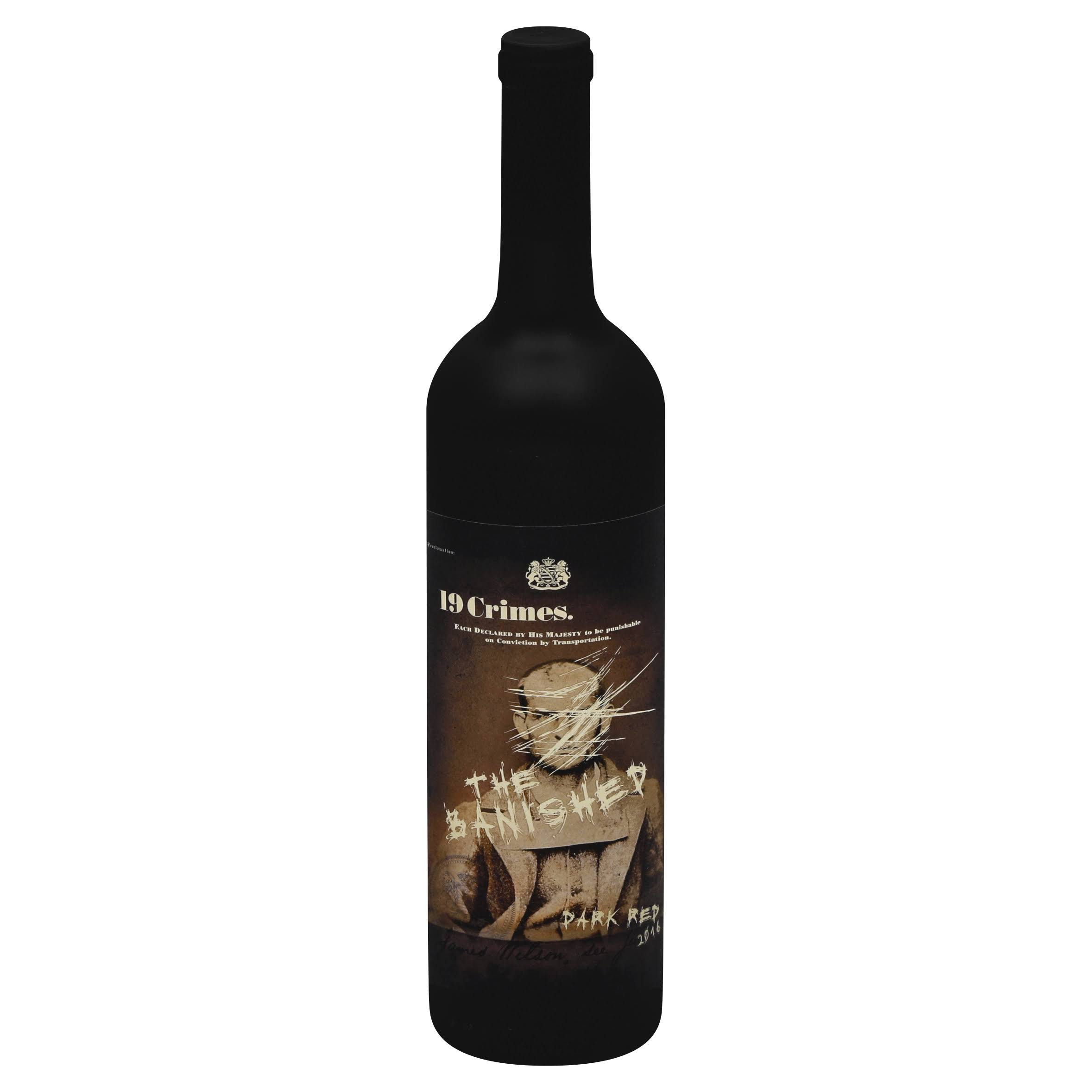 19 Crimes Dark Red, The Banished, 2016 - 750 ml