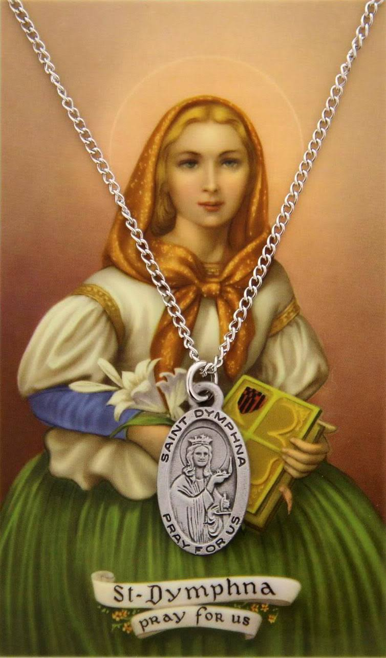 Saint Dymphna Medal, Prayer Card Set