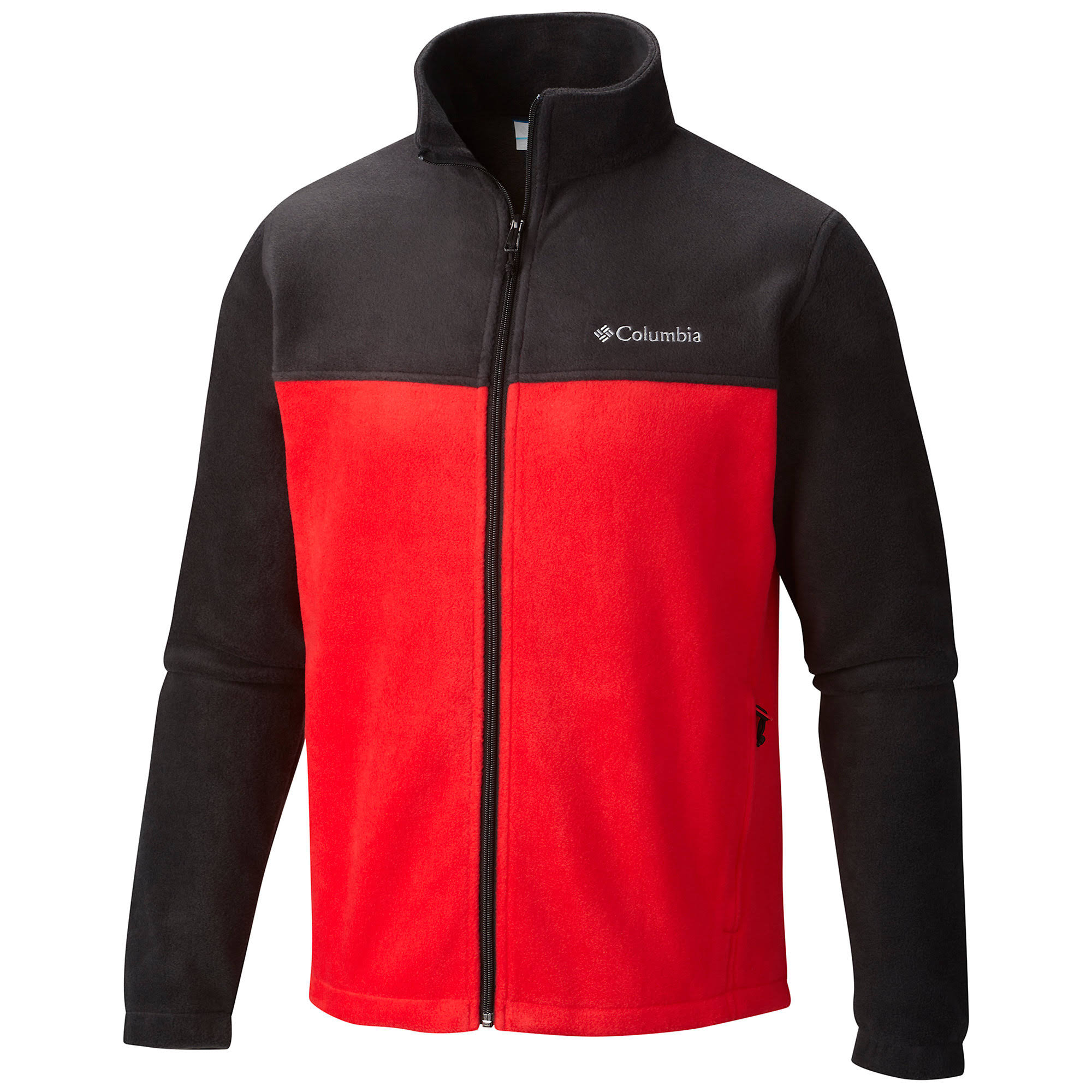 Columbia Men's Black/Red Steens Mountain Full-Zip Fleece