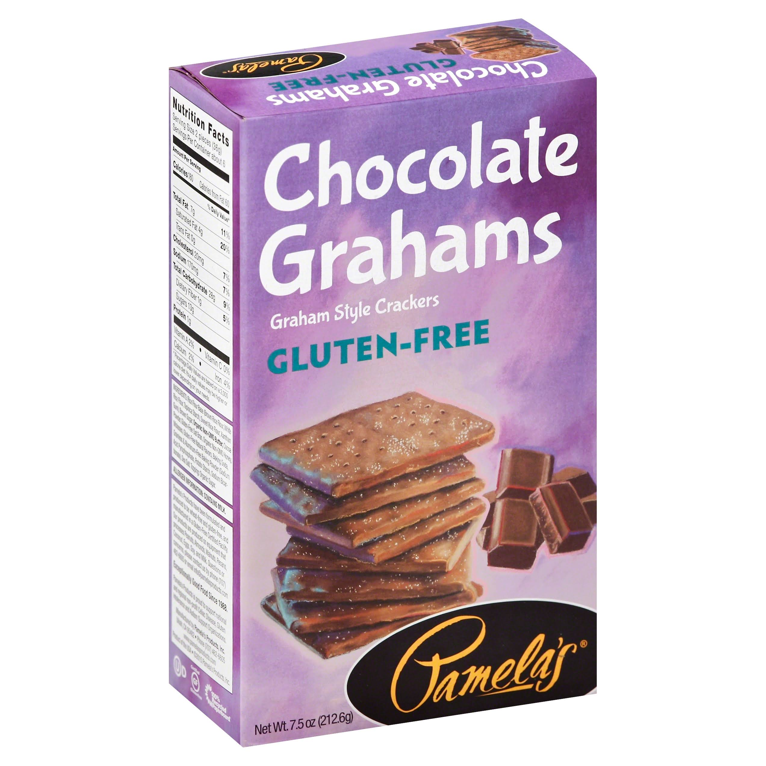 Pamela's Products Gluten Free Graham Crackers - Chocolate