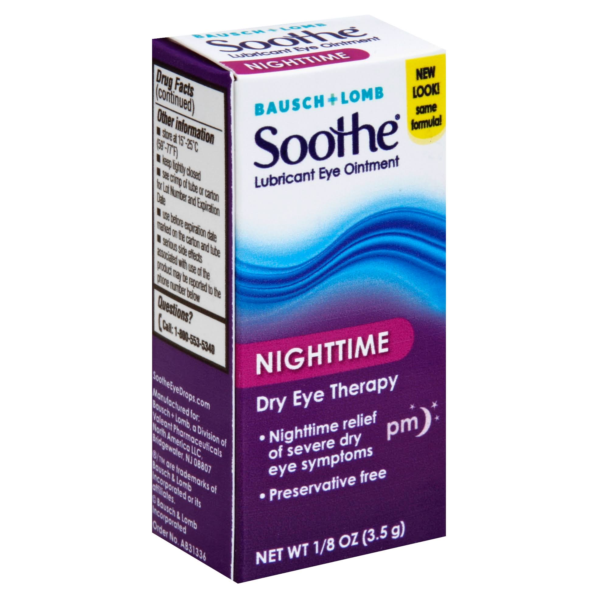 Bausch + Lomb Soothe Lubricant Eye Ointment - Night Time, 1/8oz