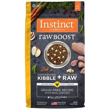 Nature's Variety Instinct Raw Boost Grain Free Chicken Dry Dog Food - 4lb