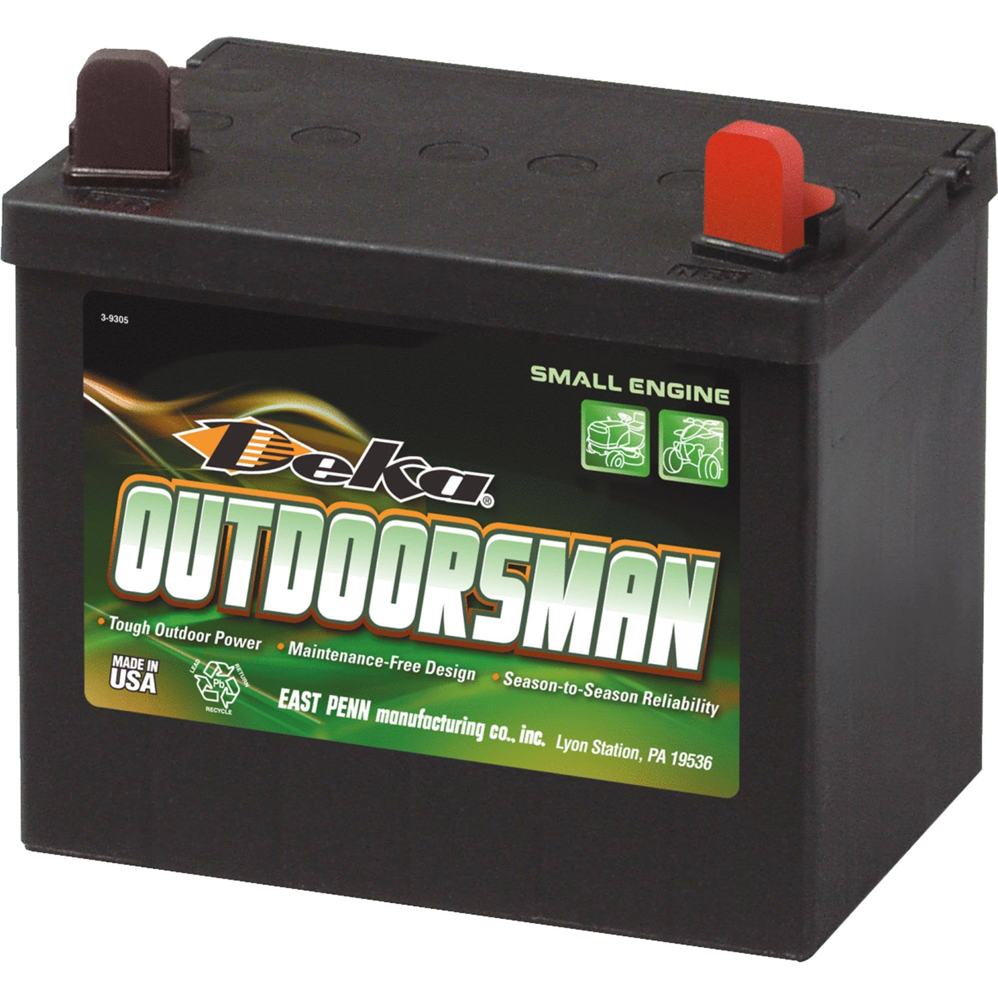 East Penn Mfg Deka Outdoorsman Small Engine Battery - 8U1R