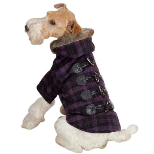 Zack & Zoey Fur Tipped Toggle Coat, Small, Purple