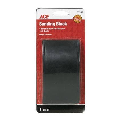 Ace Rubber Sanding Block - 2.6in x 5.5in