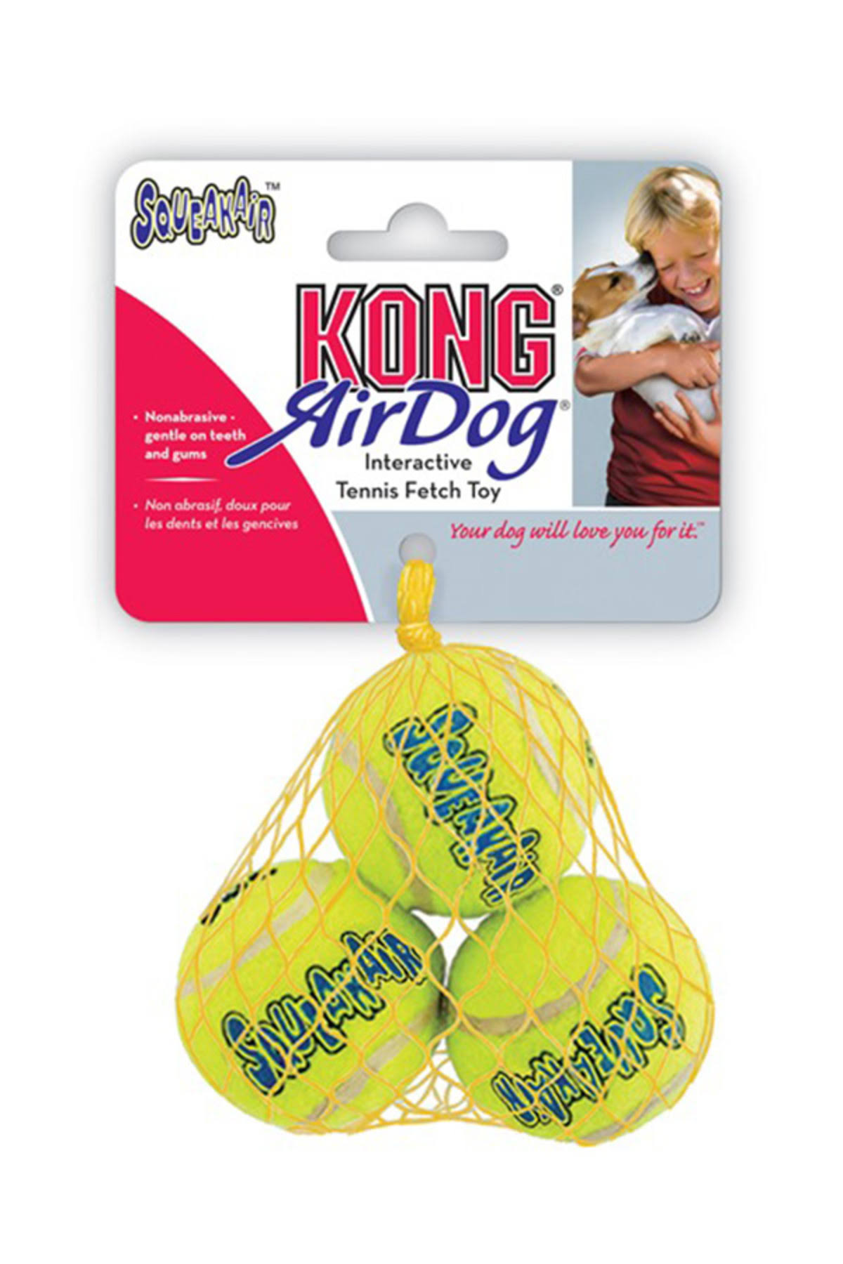 Kong Air Dog Squeaker Tennis Balls Dog Toy - Small, 3 Pack