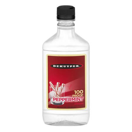Dekuyper Peppermint Schnapps 100 Proof Liqueur - 375 ml