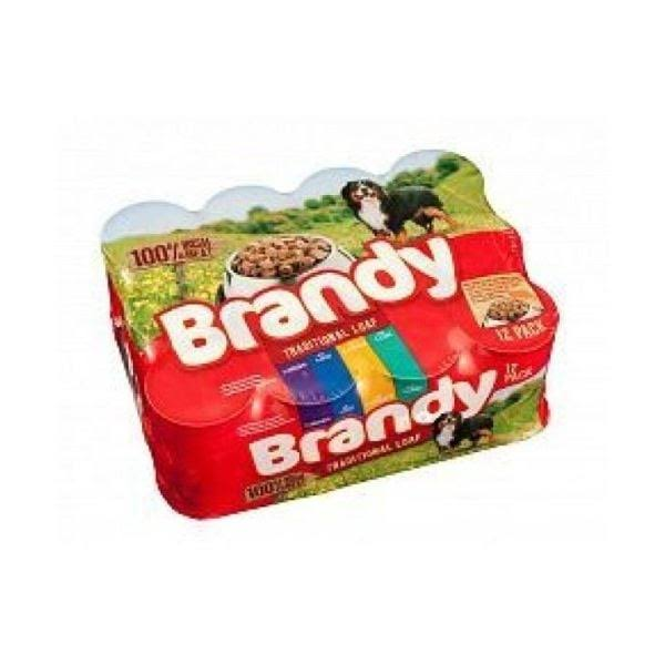 Brandy Traditional Loaf Dog Food - Variety of 6, 395g