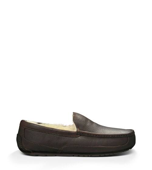 Ugg Australia Ascot Indoor Outdoor Leather Slippers - China Tea, US11