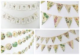 Shabby Chic Wedding Decorations Uk by Whimsical Vintage Wedding Paper Bunting