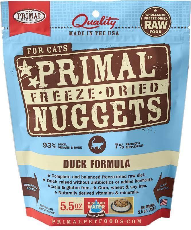 Primal Freeze Dried Cat Food - Duck Formula - 5.5 oz.