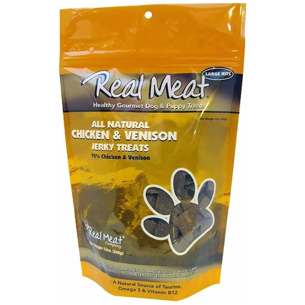 Real Meat Jerky Treats - Chicken and Venison
