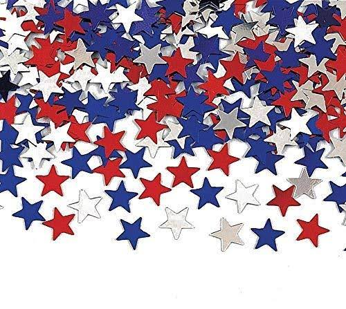 Creative Converting Metallic Star Confetti - Red/White/Blue, 12pk