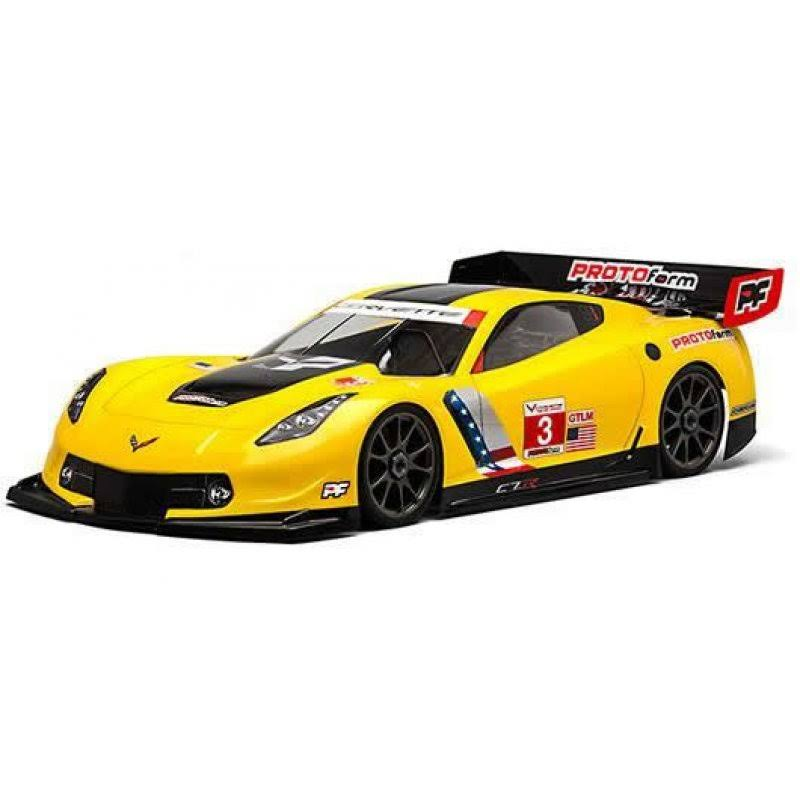 Protoform Chevrolet Corvette C7.R Clear Body GT Model Car Toy - 1:8 Scale