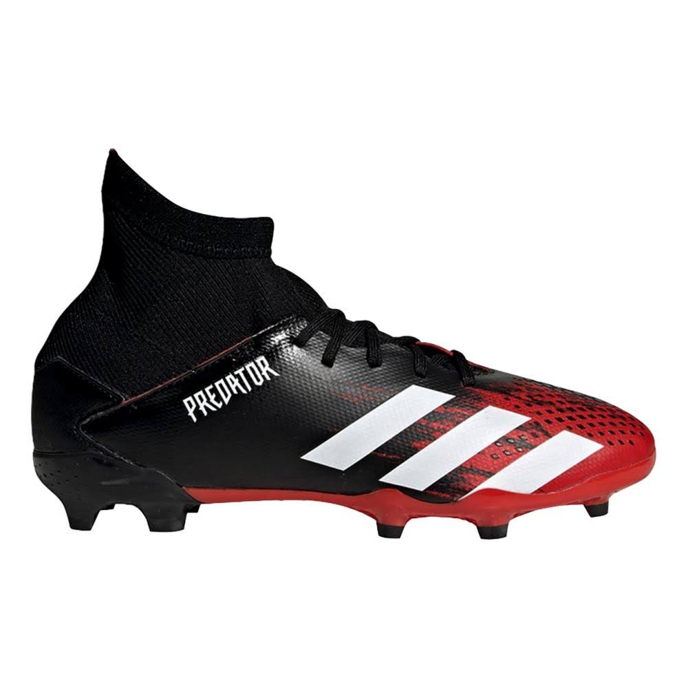 Adidas Predator 20.3 FG J Kids' Soccer Cleat Black/White/Red 5.5