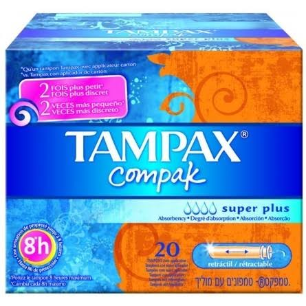 Tampax Compak Tampons Applicator - Super Plus, 20 Pack