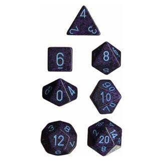 Chessex Polyhedral 7 Dice Set Cobalt Speckled