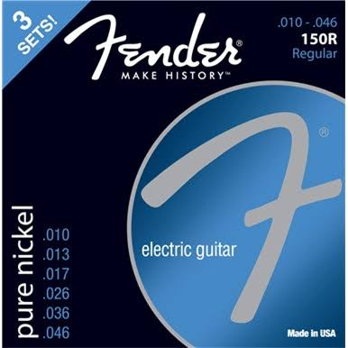Fender 150R Pure Nickel Ball End 10-46 Guitar Strings 3 Pack