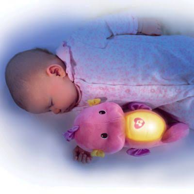 Fisher Price Soothe and Glow Seahorse Plush Toy - Pink