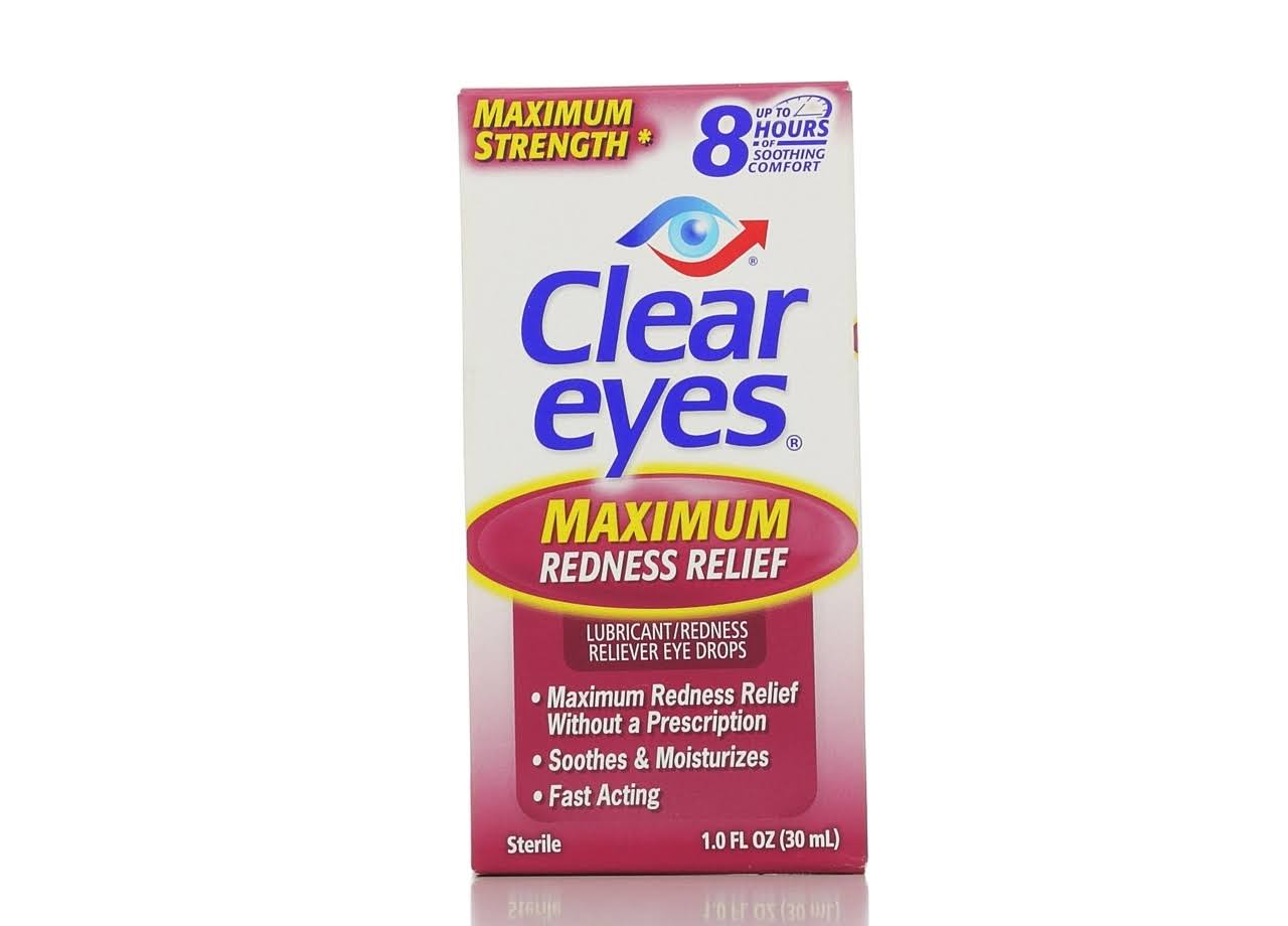 Clear Eyes Sterile Lubricant Redness Reliever Eye Drops - 1oz