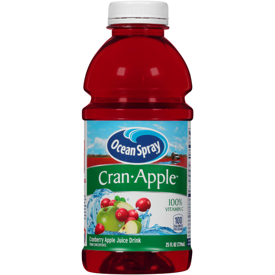 Ocean Spray Juice Drink, Cran-Apple, 25 oz