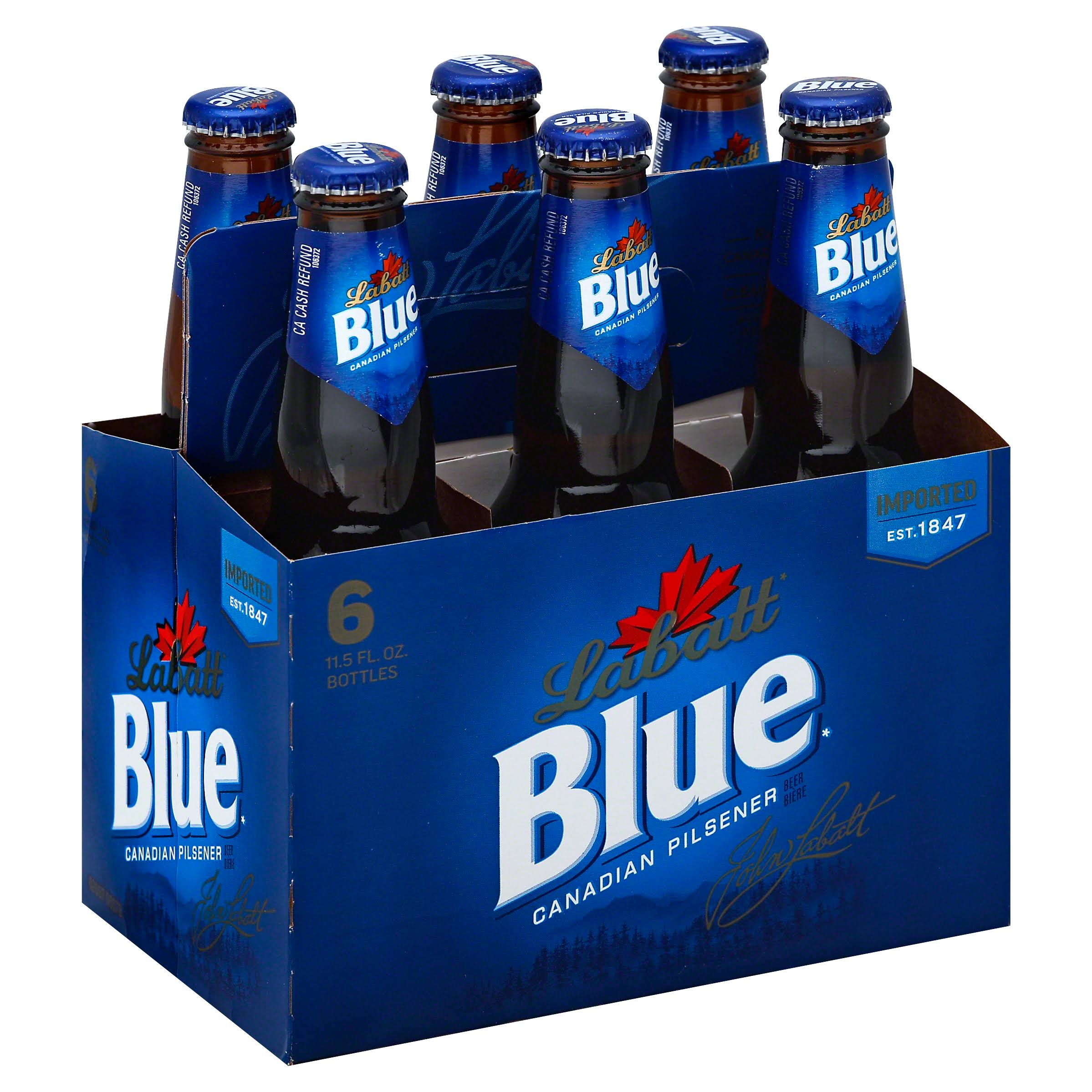 Labatt Blue Imported Canadian Beer - 12oz, 6pk