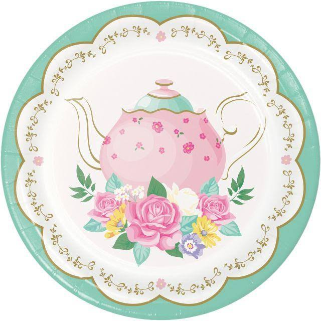 Party Creations Sturdy Style Plates, Floral Tea Party 339797 - 8 plates