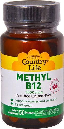 Country Life Superior B-12 - Berry, 3000mcg