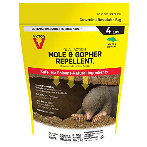 Victor Mole & Gopher Repellent, 4-Lbs.