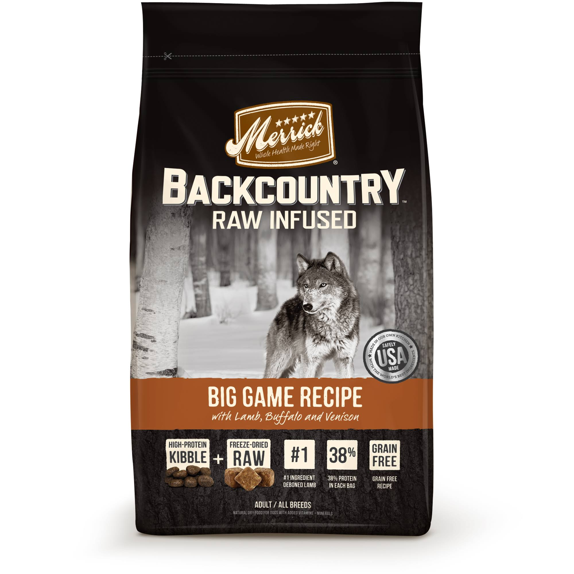 Merrick Backcountry Raw Infused Pet Food - Big Game Recipe, 22lbs