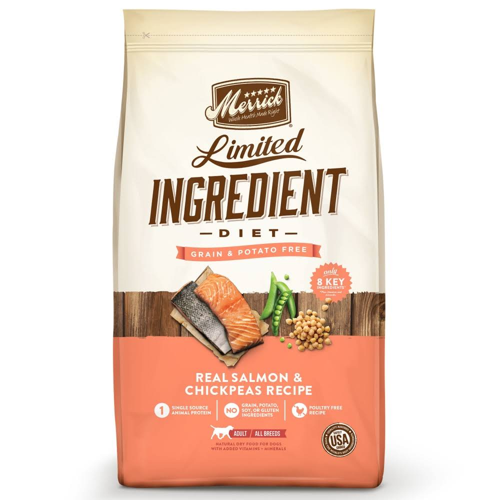 Merrick Limited Ingredient Diet Dog Food - Real Salmon and Sweet Potato, 22lbs