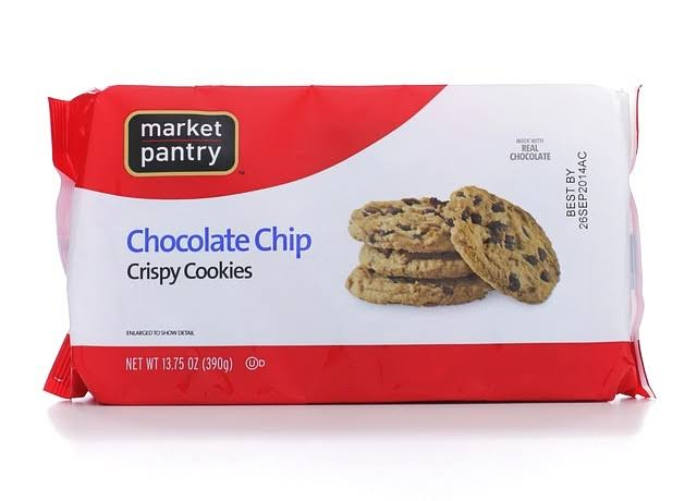 Market Pantry Cookies, Crispy, Chocolate Chip - 13.75 oz