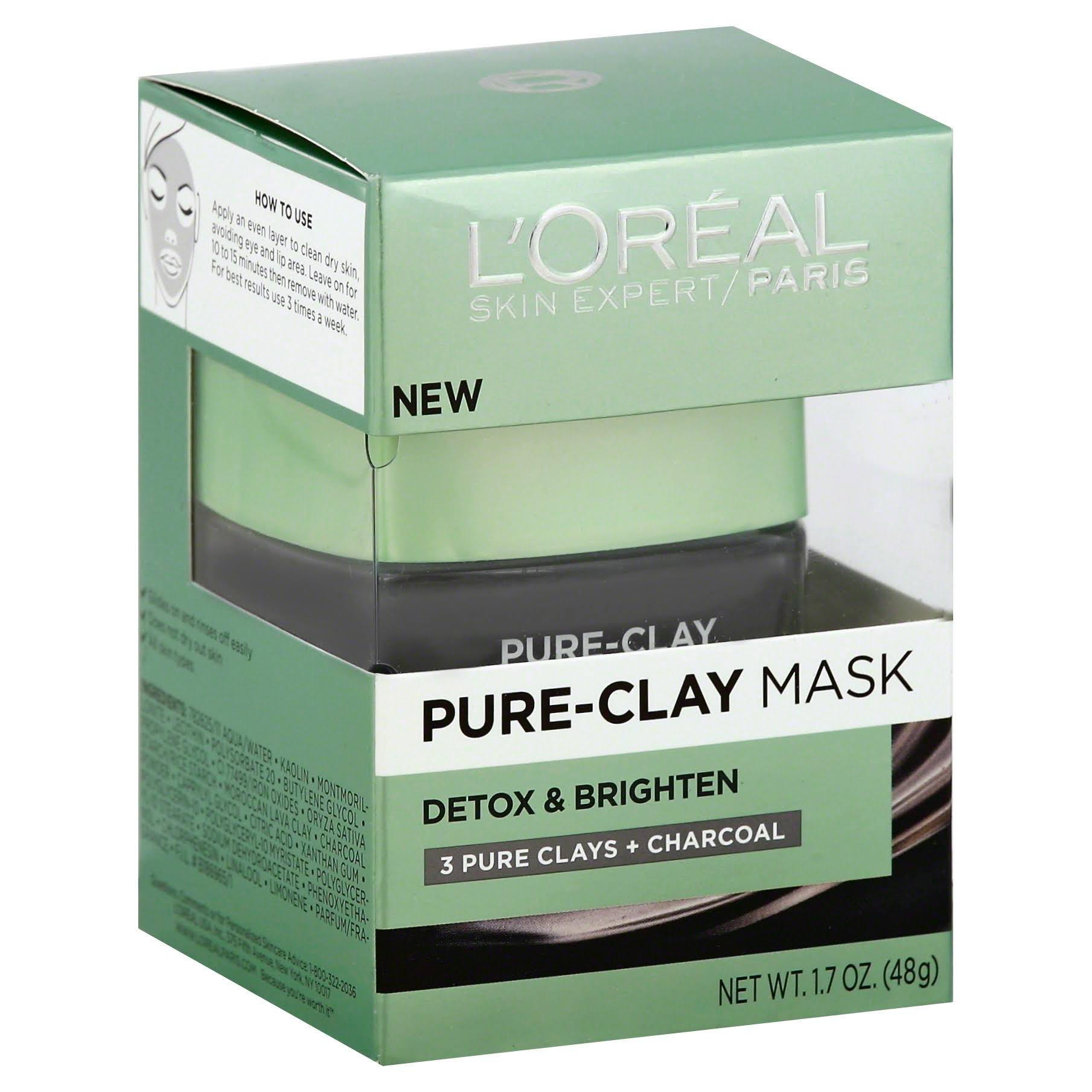 L'Oréal Detox and Brighten Pure Clay Mask - 1.7oz