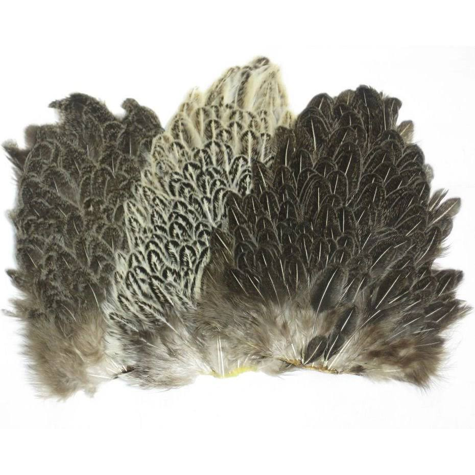 Wapsi Soft Hackle Hen Saddle Patch - Speckled Brown