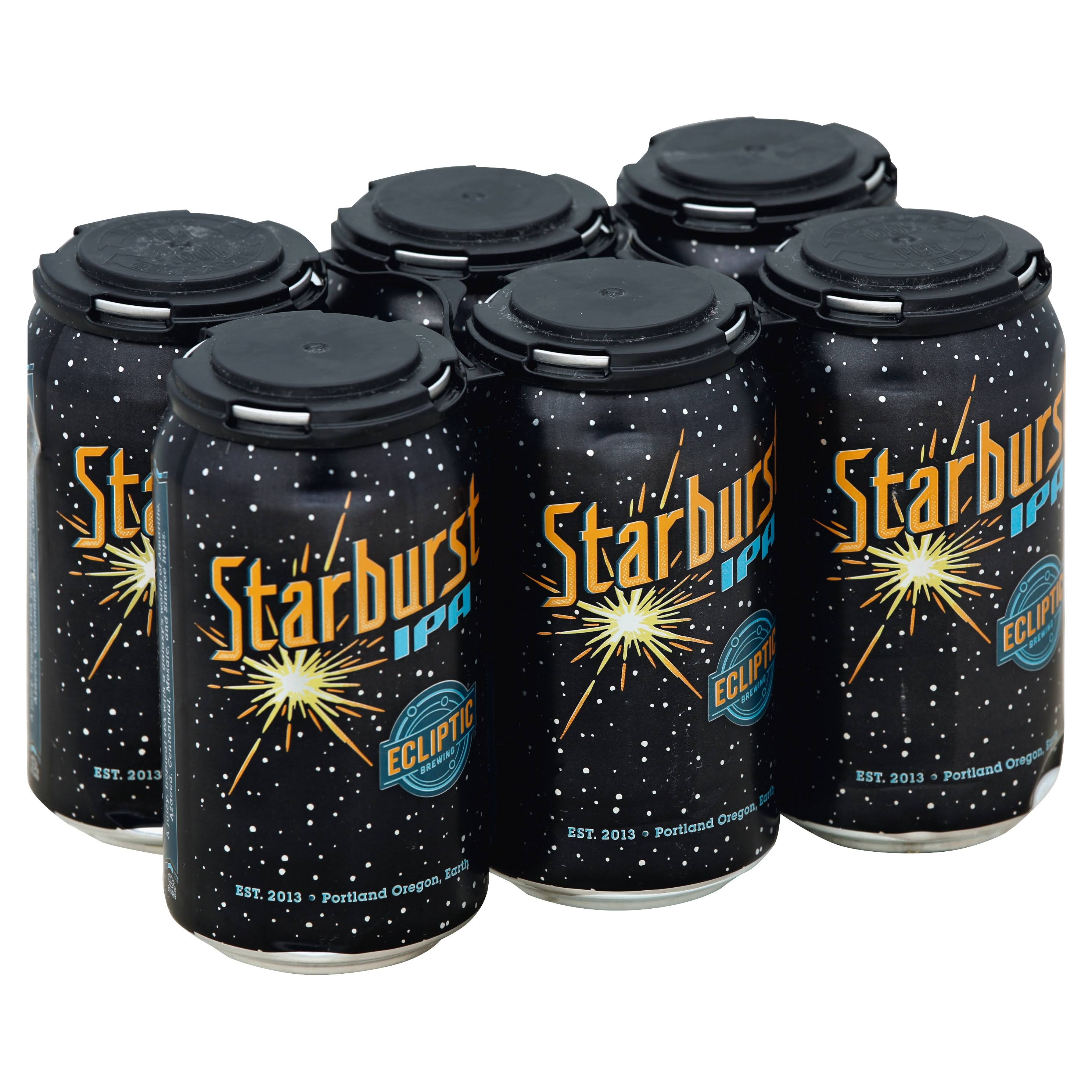 Ecliptic Brewing Beer, Starburst IPA - 6 pack, 12 fl oz cans