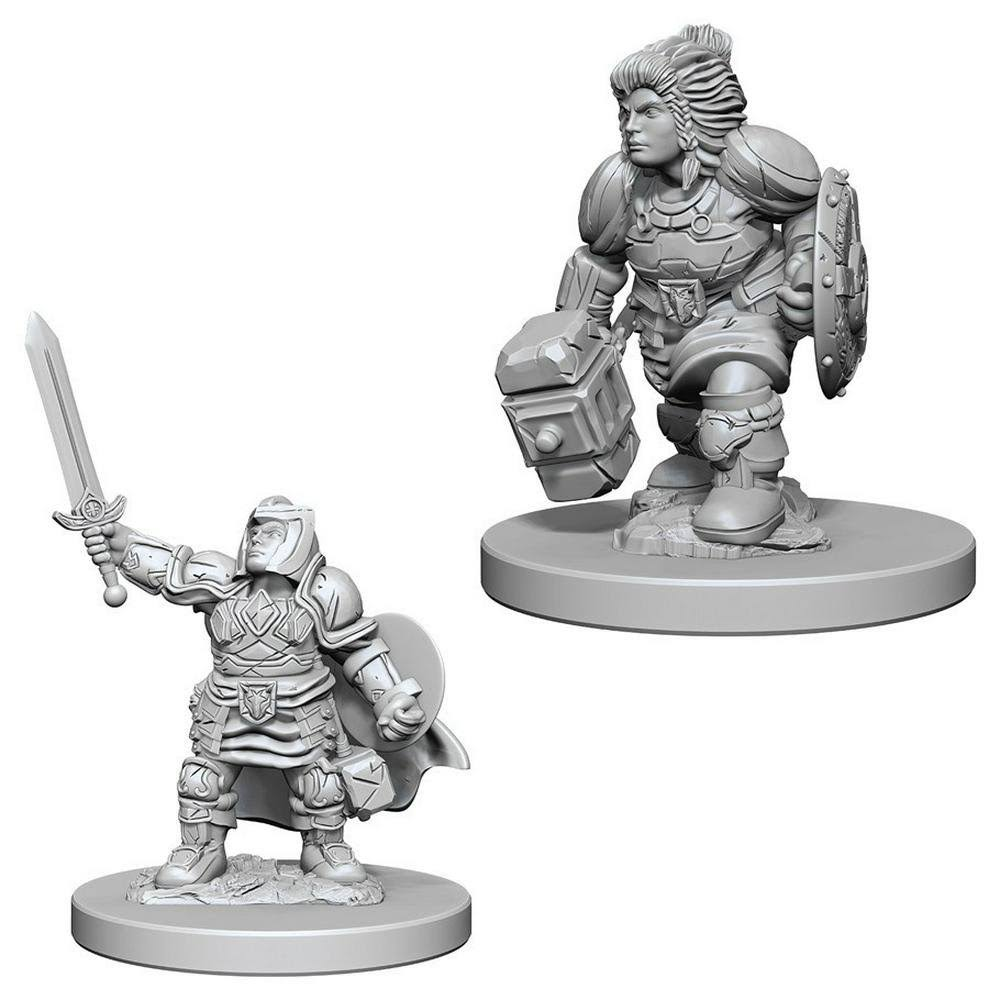 Dungeons & Dragons Nolzur's Marvelous Unpainted Miniatures: Dwarf Female Paladin