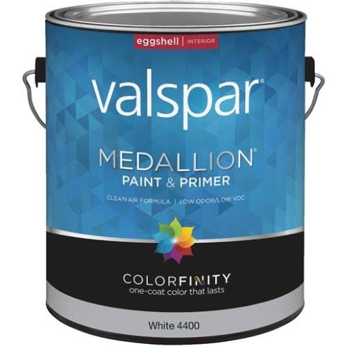Valspar Medallion Eggshell Interior Latex Paint - White, 1 Gallon