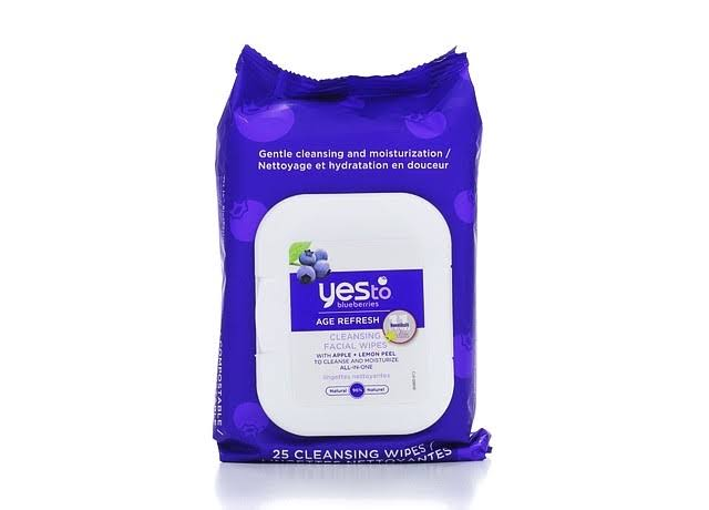 Yes to Blueberries Cleansing Facial Towelettes - 25 Pre-Moistened Towelettes