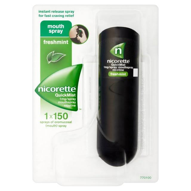 Nicorette QuickMist Mouth Spray - Freshmint, 150 Sprays