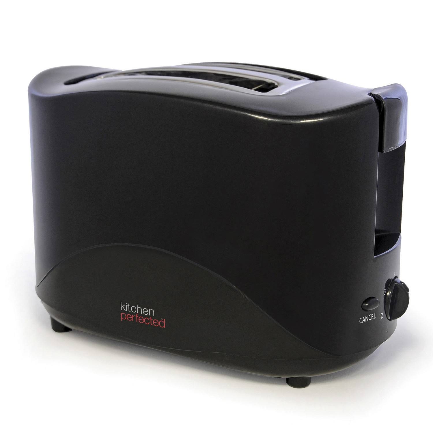 Lloytron Kitchen Perfected 2 Slice Toaster - Black, 750w