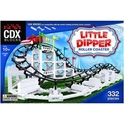 CDX Blocks Brick Construction Little Dipper Roller Coaster Building Set - 332pcs