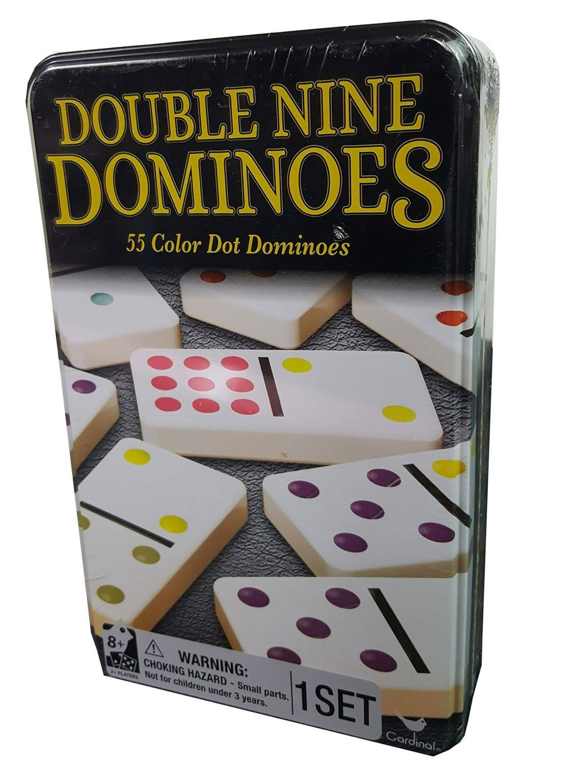 Double Nine Dominoes in Tin Multicolor