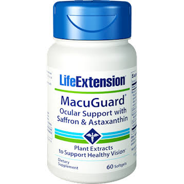 Life Extension - MacuGuard, Ocular Support with Saffron & Astaxanthin, 60 Softgels