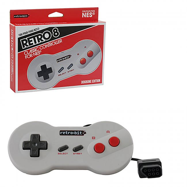 Retro-bit Nes Classic Controller - Wired, Dogbone Grey