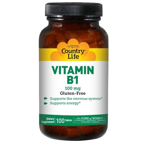 Country Life Vitamin B1 - 100 Tablets