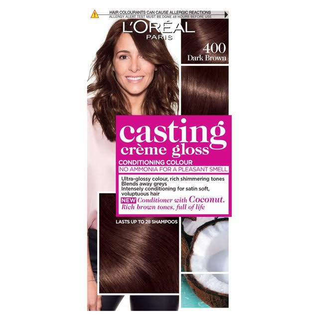 L'Oreal Casting Creme Gloss Semi Permanent Hair Dye - 400 Dark Brown