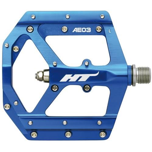 HT Components AE03 Alloy Flat Pedals Dark Blue