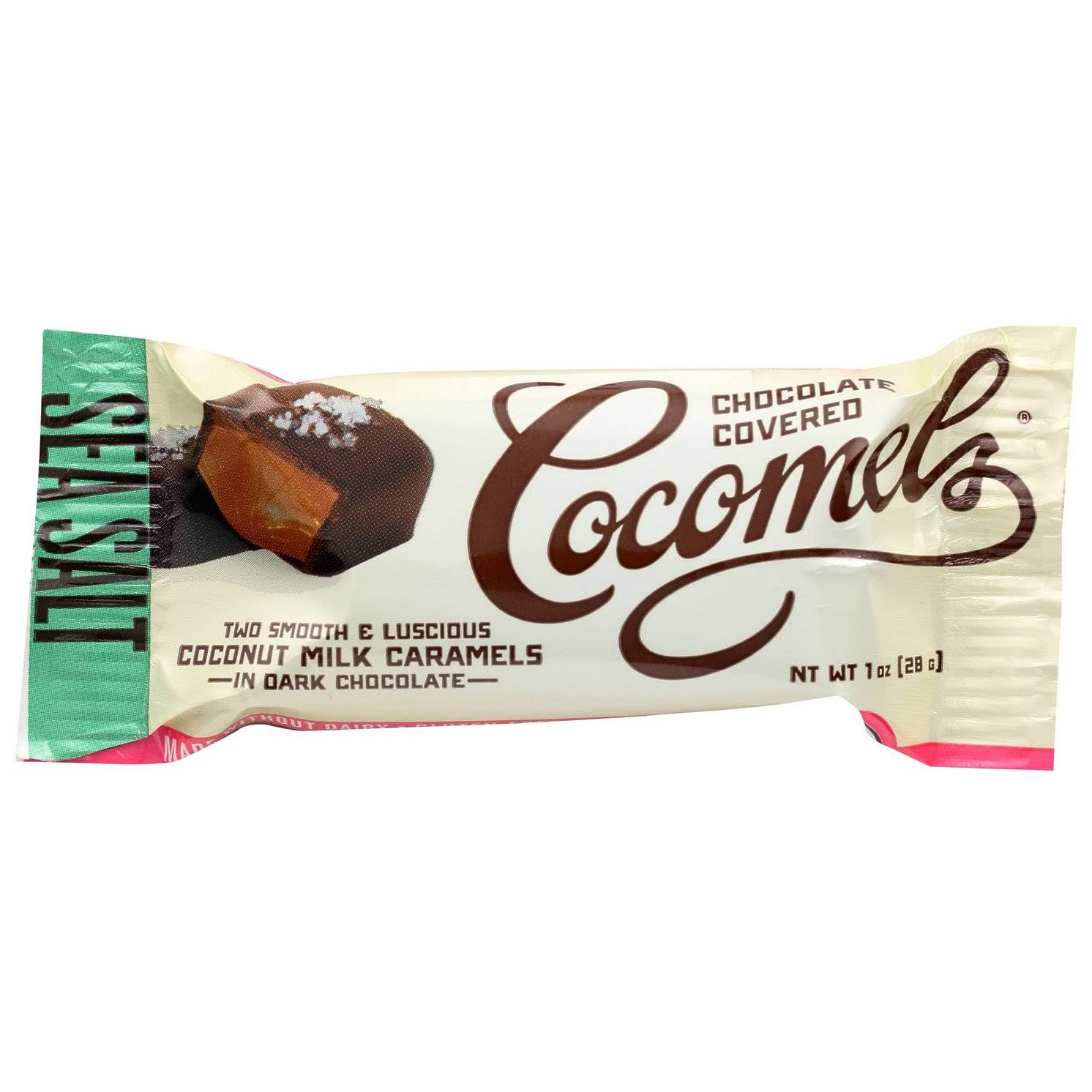 Cocomels Dark Chocolate Covered Cocomels, Sea Salt - 1 oz packet